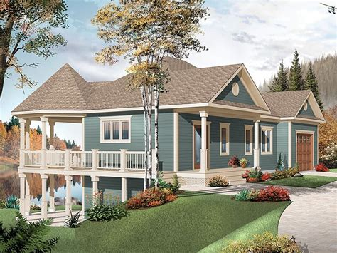 waterfront house plans waterfront house plan with wrap
