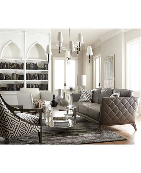 macys leather sofa and loveseat kourtney quilted leather sofa collection only at