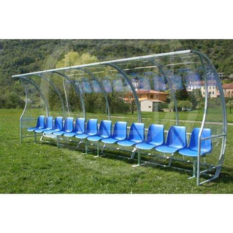 football benches soccer field equipment covered coach bench