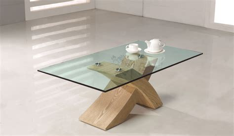 designer glass wood coffee table furniture oak city