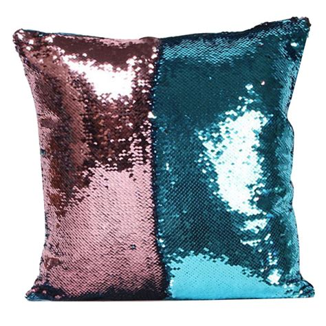 Glittery Pillows by Mermaid Pillow Cover Glitter Sequins Throw Cases Home Car