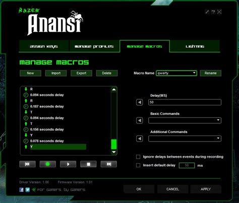 Mouse Macro Razer Termurah review razer anansi mmo gaming keyboard nag