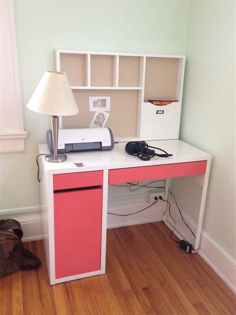 Decorating Lovely Ikea Micke Desk For Study Or Workspace Ikea Computer Desk Ideas