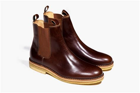 Handmade Mens Leather Boots - handmade mens chelsea leather boots with crepe sole
