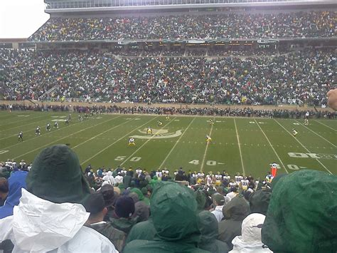 michigan section 8 spartan stadium michigan st section 8 rateyourseats com