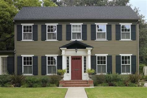 colonial dollhouse exterior color schemes search