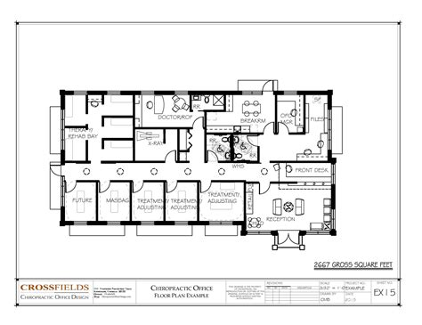floor plan of an office chiropractic office floor plans