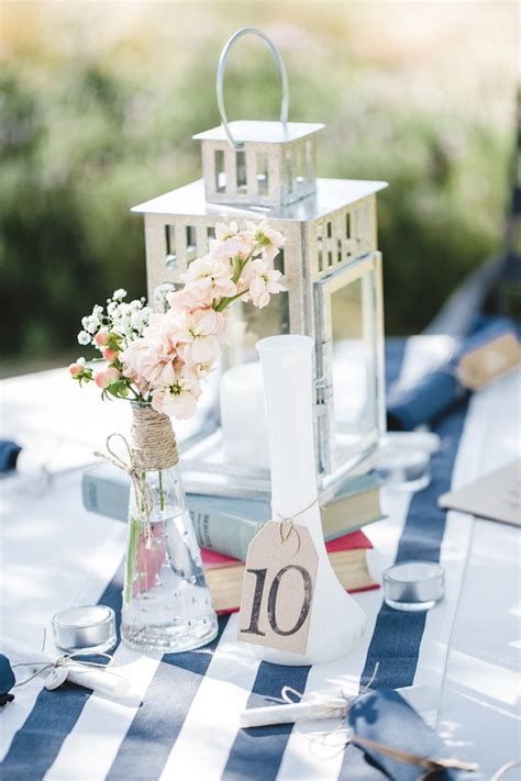 Denim Home Decor by Navy And Peach Diy Wedding From Anita Martin Photography