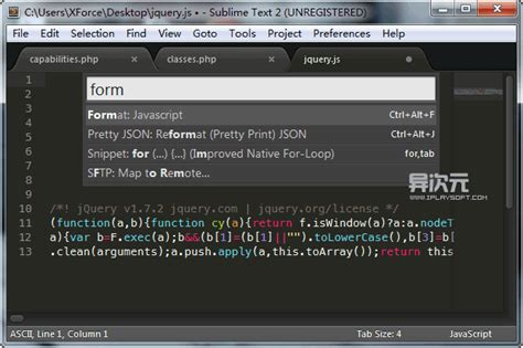 format html in sublime text sublime text 2 性感无比的代码编辑器 学步园