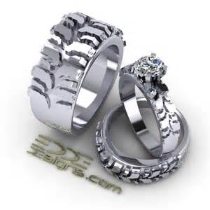 Dirt Bike Tire Tread Ring Motocross Wedding Ring One Day