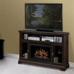 brookings 53 quot tv stand with electric fireplace modern
