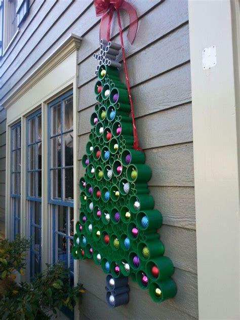 christmas tree   pvc pipe christmas diy