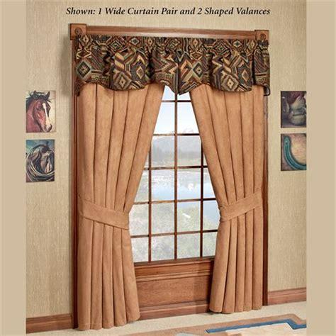 southwest curtains and valances tucson southwest shaped valance window treatment