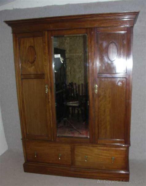 3 door antique armoire antiques atlas large mahogany 3 door wardrobe armoire