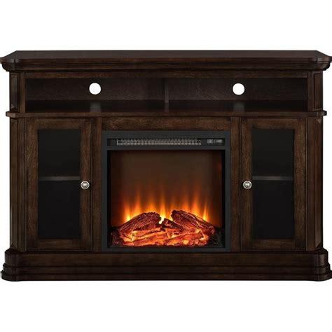 fireplace tv console 50 quot fireplace tv console in espresso 1765096pcom