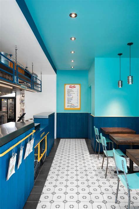 small  vibrant restaurant interior  montreal cafe