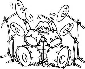 drums amp drummer coloring pages rock n roll drummer