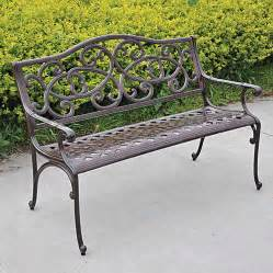 Cast Aluminum Outdoor Furniture Reviews - wisteria cast aluminum outdoor bench at jackson amp perkins