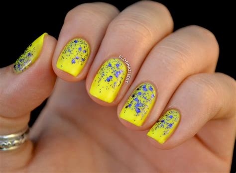 blue nail beds beautiful yellow manicures that are bright enough for summer