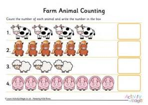 farm animal counting 1