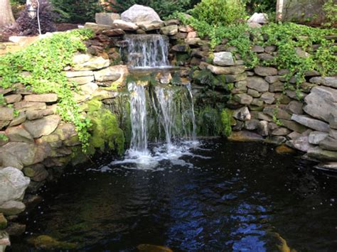 backyard pond waterfalls backyard pond design koi pond designs waterfall design
