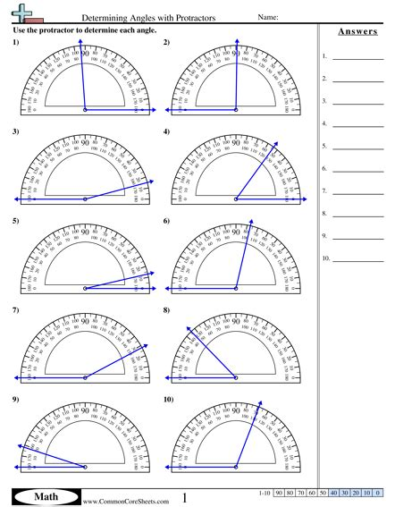 measuring angles with a protractor worksheet pdf 4 md 6 worksheets