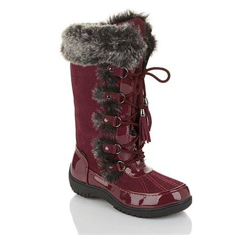 hsn sporto boots shop sporto 174 waterproof suede lace up boot with thermolite