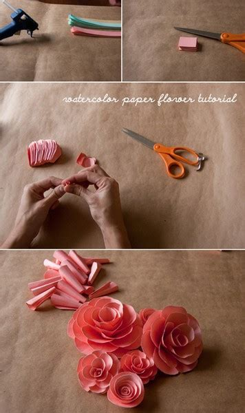 paper flower tutorial pinterest paper flower tutorial diy pinterestdiy pinterest