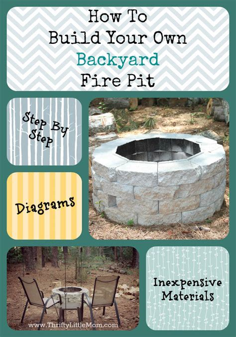 cheap backyard pit easy diy inexpensive firepit for backyard 187 thrifty
