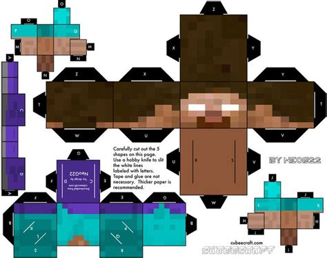 How To Make A Minecraft Steve Out Of Paper - minecraft herobrine paper cut out might be great for