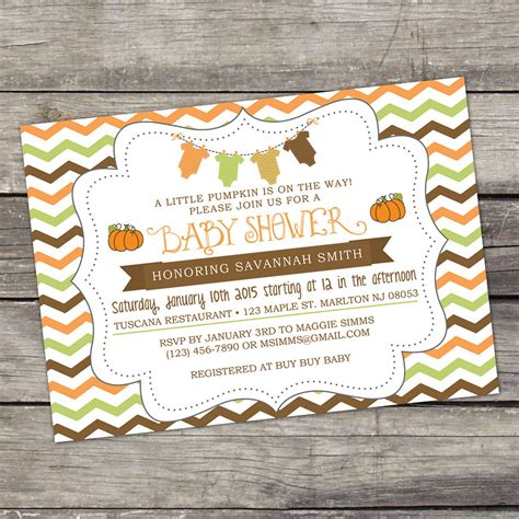 Fall Themed Baby Shower Invitations by We Print Fall Baby Shower Invitations A By Partyprintery