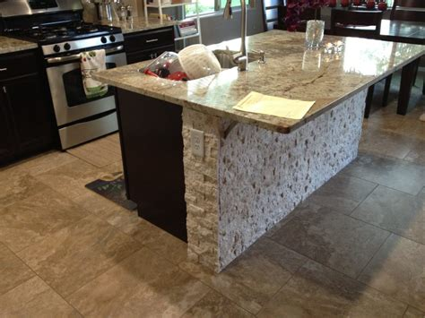 stone kitchen island kitchen islands with stacked stone tiles stacked stone