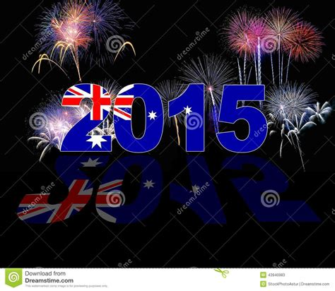 new year 2015 australia australia new year 2015 stock illustration image 43940983