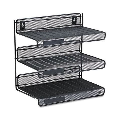 3 Tier Desk Shelf by Rolodex Mesh Three Tier Desk Shelf Office Supplies