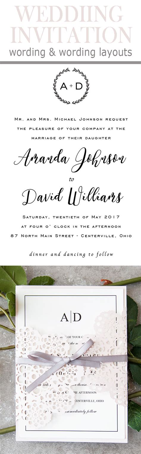 20 Popular Wedding Invitation Wording Diy Templates Ideas Wedding Invitation Wording Templates