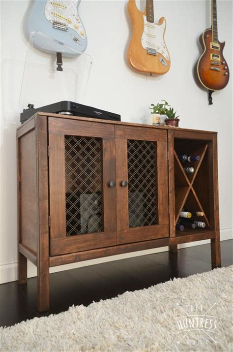 Kitchen Huntress by Diy Wooden Sideboard Record Cabinet With Wine Rack