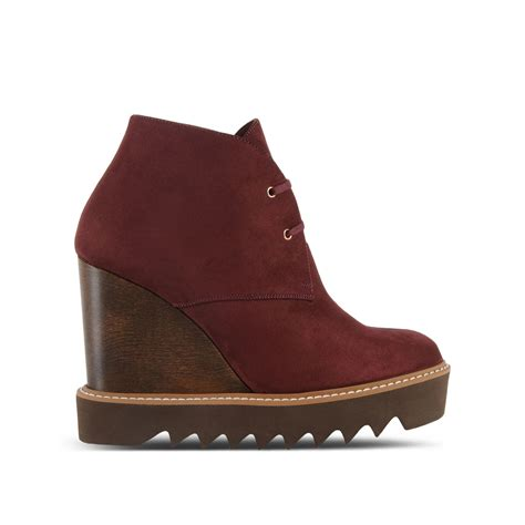 stella mccartney boots stella mccartney ankle boots in brown lyst