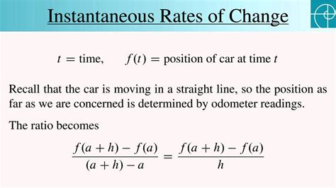 How To Find Rate Of Change In A Table Instantaneous Rates Of Change