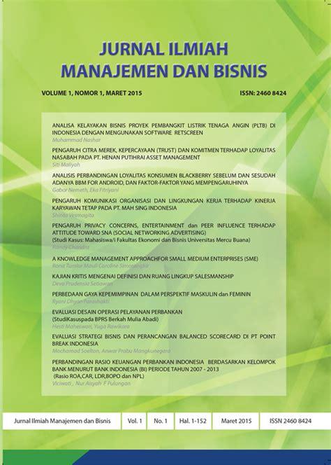 cara membuat jurnal manajemen bisnis jurnal ilmiah manajemen dan bisnis mercu buana neliti
