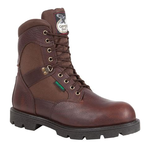 insulated work boots for homeland 8 inch steel toe waterproof insulated