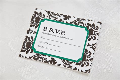 Wedding Invitation With Rsvp by Decorative In Diy Damask Wedding Invitation