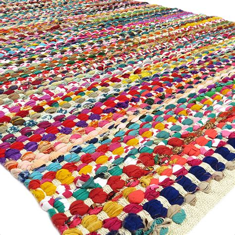 Indian Rag Rug by 3 X 5 Ft Colorful Rag Rug Chindi Floor Mat Carpet Tapestry