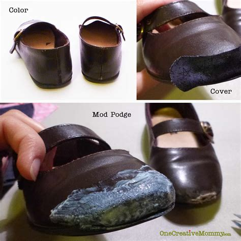 diy shoe repair pinned it made it it how to repair scuffed shoes