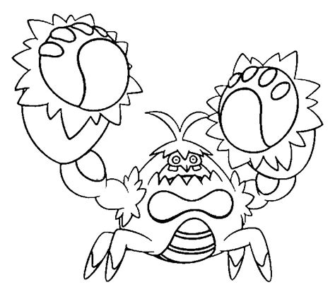 Coloring Pages Pokemon Crabominable Drawings Pokemon Where The Things Are Coloring Pages
