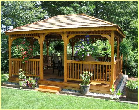 triyae backyard gazebo plans various design