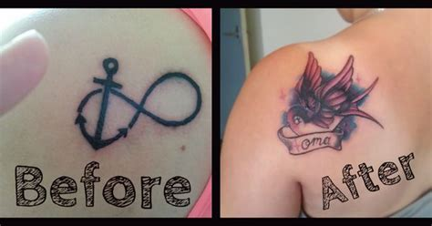 tattoo cover up gone wrong www lillybeeink nl cover up of an infinity gone wrong