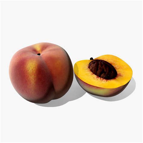 my fruits model peach 3d peach model