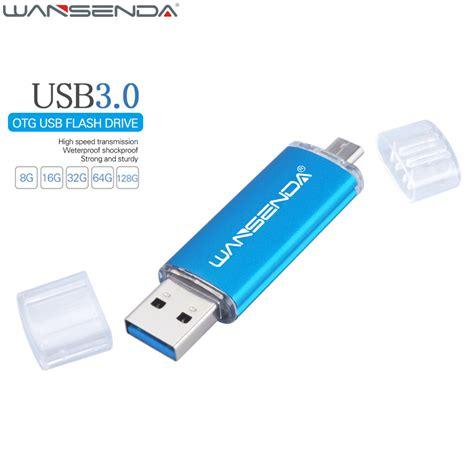 Usb Otg 128gb wansenda fast speed usb 3 0 otg pen drive 64gb metal usb