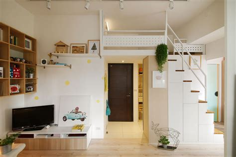 Tiny Appartment by Redesigned Tiny Apartment With Loft Features A Brighter