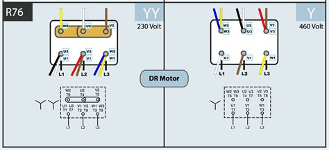 230 460 motor wiring diagram wiring diagram with description